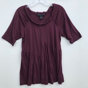 Marc by Marc Jacobs Twist Neck Flare Tee #878